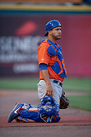 Syracuse Mets  during an International League game against the Buffalo Bisons on June 29, 2019 at Sahlen Field in Buffalo, New York.  Buffalo defeated Syracuse 9-3.  (Mike Janes/Four Seam Images)