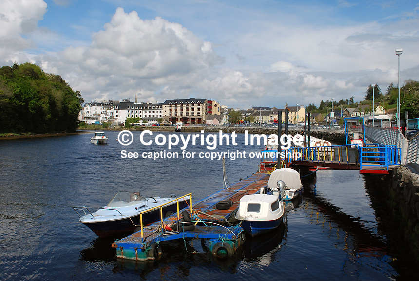 Donegal Town, Co Donegal, Rep of Ireland - photographed from the quay where the River Eske flows into Donegal Bay. 200905192480..Copyright Image from Victor Patterson, 54 Dorchester Park, Belfast, UK, BT9 6RJ..Tel: +44 28 9066 1296.Mob: +44 7802 353836.Voicemail +44 20 8816 7153.Skype: victorpattersonbelfast.Email: victorpatterson@mac.com.Email: victorpatterson@ireland.com (back-up)..IMPORTANT: If you wish to use this image or any other of my images please go to www.victorpatterson.com and click on the Terms & Conditions. Then contact me by email or phone with the reference number(s) of the image(s) concerned.