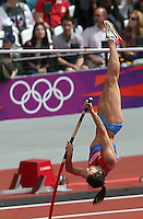 04.08.2012. London, England. Elena Isinbaeva of Russia Competes in  Womens Pole Vault Qualification Group B  Elena Isinbaeva of Russia Made It to The Finals with 4 55m