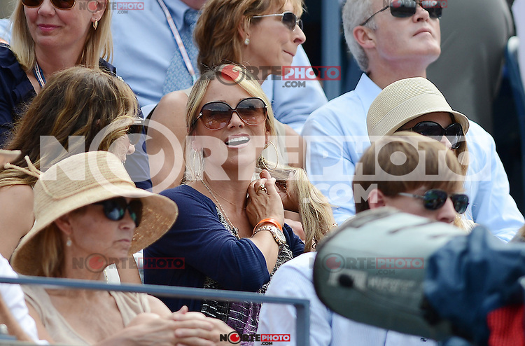 FLUSHING NY- SEPTEMBER 2: Christine Taylor is sighted at Andy Roddick Vs Fabio Fognini on Arthur Ashe stadium at the USTA Billie Jean King National Tennis Center on September 2, 2012 in in Flushing Queens. Credit: mpi04/MediaPunch Inc. ***NO NY NEWSPAPERS*** /NortePhoto.com<br />