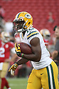 August 26 2016: Wide Receiver Herb Waters of the Green Bay Packers during the Green Bay Packers during a 21-10 victory over the San Francisco 49ers at Levi's Stadium in Santa Clara, Ca.