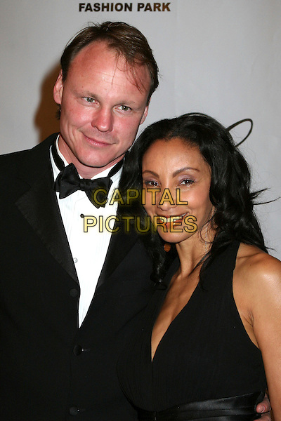 "JULIE BROWN & GUEST.17th Annual ""Night of 100 Stars"" Oscar Gala at the Beverly Hills Hotel, Beverly Hills, California , USA. .February 25th, 2007.headshot portrait black bow tie.CAP/ADM/BP.©Byron Purvis/AdMedia/Capital Pictures"