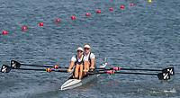 Rio de Janeiro. BRAZIL.  NZL W2X, Bow. Eve MACFARLANE and  Zoe STEVENSON, 2016 Olympic Rowing Regatta. Lagoa Stadium,<br /> Copacabana,  &ldquo;Olympic Summer Games&rdquo;<br /> Rodrigo de Freitas Lagoon, Lagoa. Local Time 11:40:12   Saturday  06/08/2016 <br /> <br /> [Mandatory Credit; Peter SPURRIER/Intersport Images]