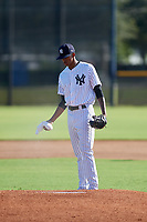 New York Yankees pitcher Luis Medina (30) gets ready to deliver a pitch during an Instructional League game against the Baltimore Orioles on September 23, 2017 at the Yankees Minor League Complex in Tampa, Florida.  (Mike Janes/Four Seam Images)