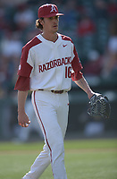 NWA Democrat-Gazette/ANDY SHUPE<br /> Arkansas Kent State Friday, March 9, 2018, during the inning at Baum Stadium in Fayetteville. Visit nwadg.com/photos to see more photographs from the game.