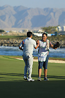 Kurt Kitayama (USA) after the final round of the Oman Open, Al Mouj Golf, Muscat, Sultanate of Oman. 03/03/2019<br /> Picture: Golffile | Phil Inglis<br /> <br /> <br /> All photo usage must carry mandatory copyright credit (&copy; Golffile | Phil Inglis)