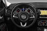 Car pictures of steering wheel view of a 2017 Jeep Compass Limited 5 Door SUV