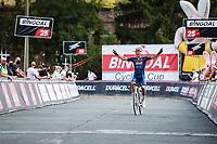 Jonas Rickaert (BEL/Alpecin Fenix) winning Dwars Door Het Hageland 2020<br /> <br /> One Day Race: Aarschot – Diest 180km (UCI 1.1)<br /> Bingoal Cycling Cup 2020