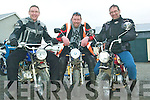 Mighty monkey bikes: Tim Healy, Finbar O'Flaherty and Hugo Drew from Newmarket who will complete the 440 mile journey from Malin to Mizen Head on three small monkey bikes for the Chernobyl Children's Project on May 30th and 31st.