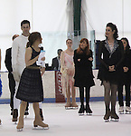 All Children's Rebecca Budig host and also skated poses with competetors Jonathan Hunt and her partner actress Sean Young at Ice Theatre of New York's Celeb Skate 2013 on June 9, 2013 at the Sky Rink at Chelsea Piers, New York City, New York. (Photo by Sue Coflin/Max Photos)