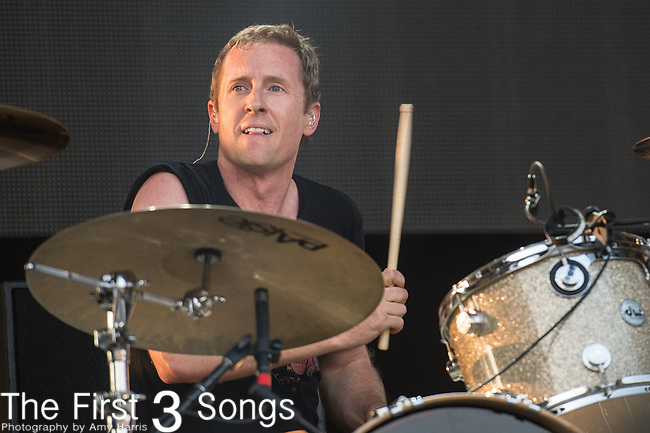 Josh Freese of The Replacements perform during the Forecastle Music Festival at Waterfront Park in Louisville, Kentucky.