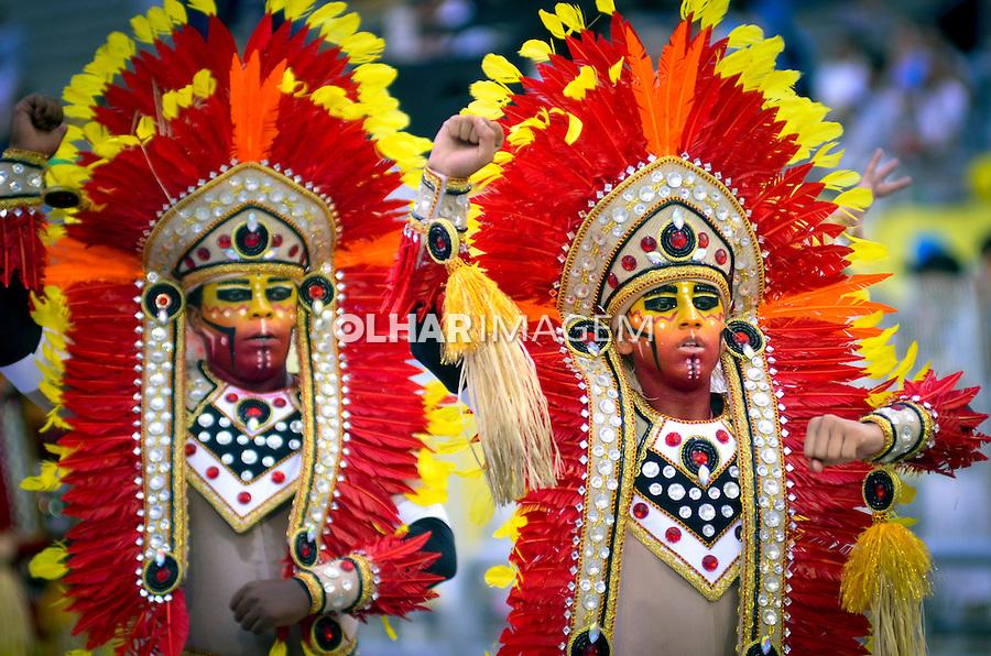 Desfile de carnaval Tom Maior. Sambodromo. Sao Paulo.2014. Foto de Levi Bianco.