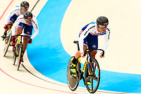 Picture by Alex Whitehead/SWpix.com - 09/12/2017 - Cycling - UCI Track Cycling World Cup Santiago - Velódromo de Peñalolén, Santiago, Chile - Chinese Taipei's Sheng Kai Yang, Shih Feng Kang and Shih Hsin Hsiao compete in the Men's Team Sprint qualifying.
