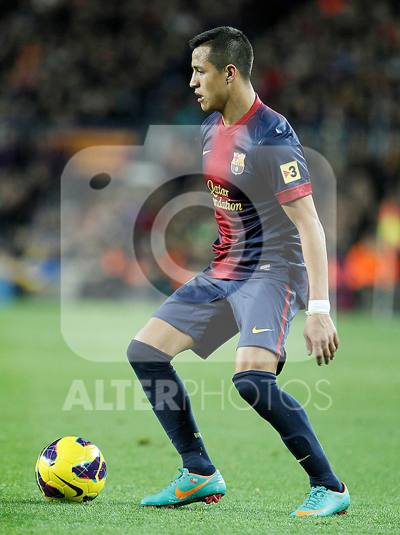 FC Barcelona's Alexis Sanchez during La Liga match.December 16,2012. (ALTERPHOTOS/Acero)
