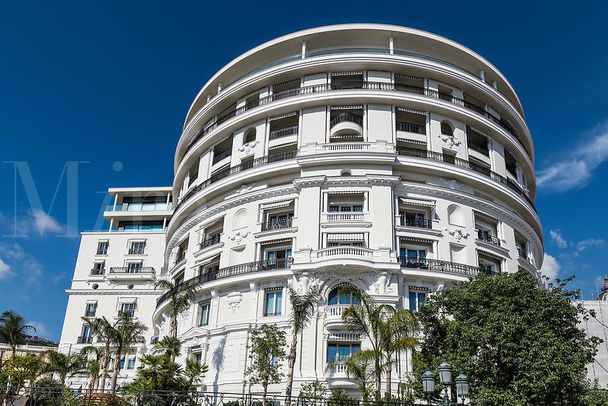 Exterior detail of Hermitage Hotel in Monaco.