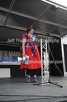Peoples March for the NHS - Central London, Saturday 6th Sept 2014 - <br /> <br /> 300 mile marcher Rehana Azam<br /> <br /> <br /> <br /> <br /> Photographer: Jeff Thomas - Jeff Thomas Photography - 07837 386244/07837 216676 - www.jaypics.photoshelter.com - swansea1001@hotmail.co.uk