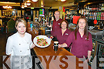 The Staff at the Inn Between Bar, Beaufor provide the finest bar food and drink  l-r: Caroline McCarthy, Francis Doona, Shirley Lupton and  Evelyn McCarthy