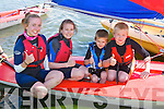 DINGHY: Getiing their dinghy ready at Tralee Sailing Club Open Day in Fenit on Sunday were, Grace and Laura Courtney,Jack and Bobby Twomey, Tralee........