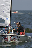 20th SPA Regatta - Medemblik.26-30 May 2004..Copyright free image for editorial use. Please credit Peter Bentley..Meg Gaillard - USA