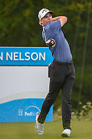 Aaron Wise (USA) watches his tee shot on 15 during the round 1 of the AT&T Byron Nelson, Trinity Forest Golf Club, Dallas, Texas, USA. 5/9/2019.<br /> Picture: Golffile | Ken Murray<br /> <br /> <br /> All photo usage must carry mandatory copyright credit (© Golffile | Ken Murray)
