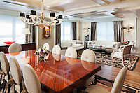 Elegant Living/Dining Combination with Automated Shades Down