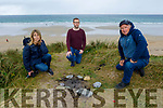 Members of Kerry Natura Site Action Group in Banna Beach showing the BBQ area which is contributing to the destruction of the sand dunes.  <br /> Front right: Pat Lawlor: Back l to r:  Martha Farrell (Maherees Conservation Association)  and Daniel Dowling (Banna Sea Rescue).