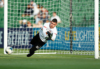 1st February 2020; HBF Park, Perth, Western Australia, Australia; A League Football, Perth Glory versus Melbourne Victory; Goalkeeper Liam Reddy of the Perth Glory warms up before the match