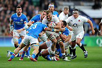 Brad Shields of England in action during the Guinness Six Nations match between England and Italy at Twickenham Stadium on Saturday 9th March 2019 (Photo by Rob Munro/Stewart Communications)
