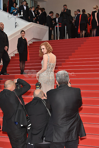 CANNES, FRANCE - MAY 12: Jessica Chastain at&laquo;Money Monster` screening - 69th Cannes Film Festival, France May 12, 2016.<br />