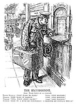 """The Excursionist. Scene: Ticket office at -- (censored). Tripper Wilhelm. """"First class to Paris."""" Clerk. """"Line blocked."""" Wilhelm. """"Then make it Warsaw."""" Clerk. """"Line blocked."""" Wilhelm. """"Well, what about Calais?"""" Clerk. """"Line blocked."""" Wilhelm. """"Hang it! I MUST go SOMEWHERE! I promised my people I would."""""""
