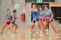 Mystics&rsquo; Grace Nweke in action during the Netball Pre Season Tournament - Mystics v Steel at Ngā Purapura, Otaki, New Zealand on Saturday 9 February  2019. <br /> Photo by Masanori Udagawa. <br /> www.photowellington.photoshelter.com