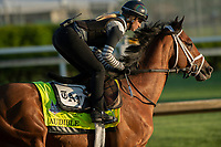 LOUISVILLE, KY - MAY 1: Audible, trained by Todd Pletcher, exercises in preparation for the Kentucky Derby at Churchill Downs on May 1, 2018 in Louisville, Kentucky. (Photo by Eric Patterson/Eclipse Sportswire/Getty Images)