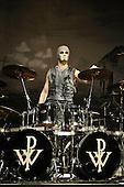 POWERWOLF - drummer Roel van Helden - performing live at the Empire in Shepherds Bush London UK - 03 Feb 2017.  Photo credit: Zaine Lewis/IconicPix