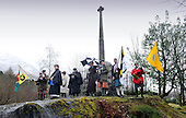 Glencoe Massacre commemoration - marchers gather at the Memorial - picture by Donald MacLeod -13.02.13 - 07702 319 738 - clanmacleod@btinternet.com - www.donald-macleod.com