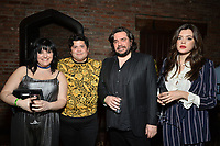 """NEW YORK - MARCH 19: (L-R) Sherz Aletaha, Harvey Guillen, Matt Berry Iraina MacCormack attend the party at the Bowery Hotel Terrace following the premiere for FX Networks """"What We Do In The Shadows"""" on March 19, 2019 in New York City. (Photo by Anthony Behar/FX/PictureGroup)"""