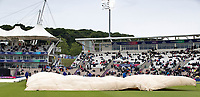 The ground staff get the covers in place during South Africa vs West Indies, ICC World Cup Cricket at the Hampshire Bowl on 10th June 2019