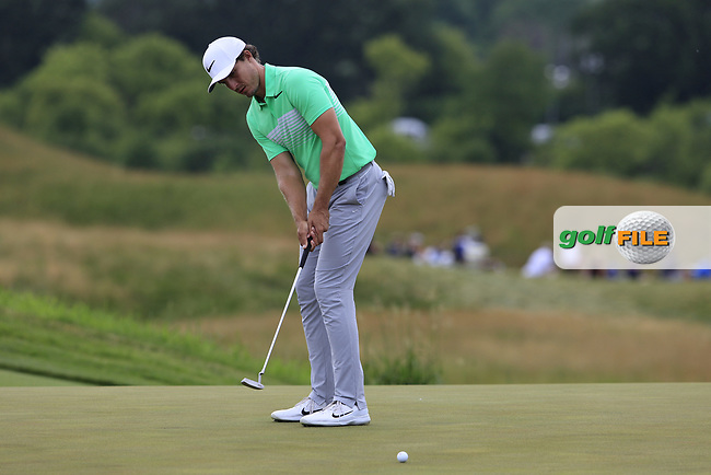 Jamie Lovemark (USA) putts on the 8th green during Saturday's Round 3 of the 117th U.S. Open Championship 2017 held at Erin Hills, Erin, Wisconsin, USA. 17th June 2017.<br /> Picture: Eoin Clarke | Golffile<br /> <br /> <br /> All photos usage must carry mandatory copyright credit (&copy; Golffile | Eoin Clarke)