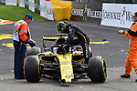 26.08.2018, Circuit de Spa-Francorchamps, Spa-Franchorchamps, FORMULA 1 2018 JOHNNIE WALKER BELGIAN GRAND PRIX, 23. - 26.08.2018<br /> , im Bild<br />Startunfall von Fernando Alonso (SPA#14), McLaren F1 Team, Charles Leclerc (MCO#16), Alfa Romeo Sauber F1 Team und Nico H&uuml;lkenberg (GER#27), Renault Sport F1 Team<br /> <br /> Foto &copy; nordphoto / Bratic