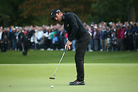 Romain Wattel (FRA) in action during the Final Round of the British Masters 2015 supported by SkySports played on the Marquess Course at Woburn Golf Club, Little Brickhill, Milton Keynes, England.  11/10/2015. Picture: Golffile | David Lloyd<br /> <br /> All photos usage must carry mandatory copyright credit (© Golffile | David Lloyd)