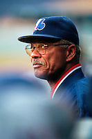 Montreal Expos Manager Felipe Alou participates in a Major League Baseball game at Dodger Stadium during the 1998 season in Los Angeles, California. (Larry Goren/Four Seam Images)