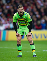 Northampton Saints' George North <br /> <br /> Photographer Ashley Western/CameraSport<br /> <br /> Aviva Premiership - Gloucester v Northampton Saints - Saturday 7th October 2017 - Kingsholm Stadium - Gloucester<br /> <br /> World Copyright &copy; 2017 CameraSport. All rights reserved. 43 Linden Ave. Countesthorpe. Leicester. England. LE8 5PG - Tel: +44 (0) 116 277 4147 - admin@camerasport.com - www.camerasport.com