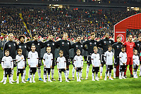 Deutschland bei der Hymne - 19.11.2019: Deutschland vs. Nordirland, Commerzbank Arena Frankfurt, EM-Qualifikation DISCLAIMER: DFB regulations prohibit any use of photographs as image sequences and/or quasi-video.