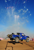Apr 16, 2011; Surprise, AZ USA; LOORRS driver Greg Nunley (25) during round 3 at Speedworld Off Road Park. Mandatory Credit: Mark J. Rebilas-
