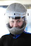 USA, Utah, Park City, portrait of a skeleton racer at Utah Olympic Park.