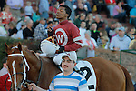 Jockey Ricardo Santana, Jr. aboard #2 Tapiture after winning the Southwest Stakes (Grade III) at Oaklawn Park in Hot Springs, Arkansas on February 17, 2014. (Credit Image: © Justin Manning/Eclipse/ZUMAPRESS.com)