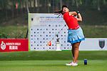 Nguyen Thao My of Vietnam tees off at tee one during the 9th Faldo Series Asia Grand Final 2014 golf tournament on March 18, 2015 at Faldo course in Mid Valley clubhouse in Shenzhen, China. Photo by Xaume Olleros / Power Sport Images