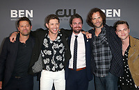 BEVERLY HILLS, CA - AUGUST 4: Misha Collins, Jensen Ackles, Stephen Amell, Jared Padalecki, Alexander Calvert, at The CW's Summer TCA All-Star Party at The Beverly Hilton Hotel in Beverly Hills, California on August 4, 2019. <br /> CAP/MPI/FS<br /> ©FS/MPI/Capital Pictures