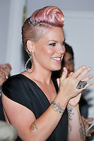 NEW YORK - JULY 12: (L to R) Singer Pink during the UJA-Federation Music Visionary of the Year Award Luncheon at the Pierre Hotel on July 12, 2012 in New York City. (Photo by MPI81/MediaPunchInc) /*NORTEPHOTO*<br />