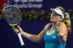 Coco Vandeweghe of United States gestures during the singles semi final match of the WTA Elite Trophy Zhuhai 2017 against Ashleigh Barty of Australia at Hengqin Tennis Center on November  04, 2017 in Zhuhai, China. Photo by Yu Chun Christopher Wong / Power Sport Images