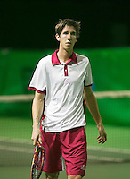 08-02-14, Netherlands,RotterdamAhoy, ABNAMROWTT, Yannick Mertens (BEL)<br /> Photo:Tennisimages/Henk Koster
